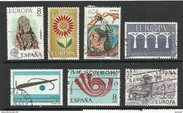 SPANIEN ESPANA SPAIN Small Lot Of 7 Europa CEPT Stamps O - Sammlungen
