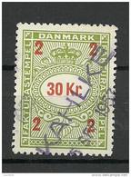 DENMARK Dänemark 30 Kr Fakturastempel Tax Steuermarke O - Steuermarken