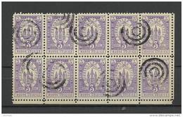 DENMARK 1880 KOBENHAVN Lokalpost Local City Post 3 öre In 10-block O - Lokale Uitgaven