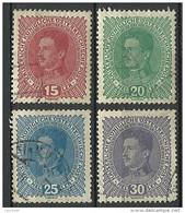 Österreich Austria 1917 - 1918 Michel 221 - 224 O - Used Stamps