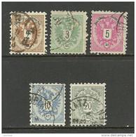 ÖSTERREICH Austria 1883 Michel 44 - 48 O - Used Stamps