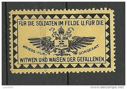 AUSTRIA Österreich Vignette Für Die Soldaten Im Felde Wohlfahrt Charity * - Nuovi