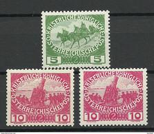 Österreich Austria 1915 Michel 181 - 182 (2 Exemplares) MNH - Nuovi