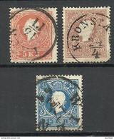 Austria Österreich 1859 Michel 13 - 15 O - Used Stamps