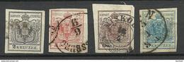 Austria Österreich 1850 Michel 2 - 5 O - Used Stamps