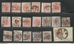 AUSTRIA Österreich 1850 Michel  3 - 4 Stempelkunde Cancellation Study - Used Stamps