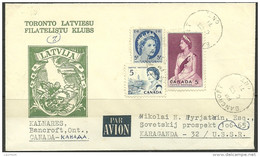 LETTLAND Latvia In Exil Special Cover From Canada To Karaganda 1971 Philatelic Club Toronto - Letonia