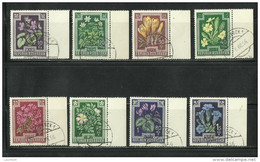 Österreich Austria 1948 Blumen Flowers = 8 Werte Aus Michel 868 - 877 O - 1945-60 Gebraucht