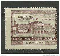 AUSTRIA Österreich 1912 Vignette Advertising Reklamemarke Kino Cinema Exposition Ausstellung MNH - Nuovi
