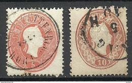 Österreich Austria 1860 Michel 20 - 21 O - Used Stamps