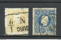 Austria Österreich 1858/59 Michel 10 & 15 O - Used Stamps