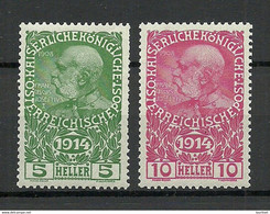 Österreich Austria 1914 Michel 178 - 179 MNH - Nuovi