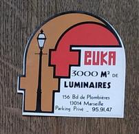 AUTOCOLLANT STICKER - FEUKA - LUMINAIRES - 156 BOULEVARD DE PLOMBIÈRES 13014 MARSEILLE - Pegatinas