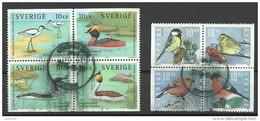 SCHWEDEN Vögel Birds 2 X 4-block O - Neufs