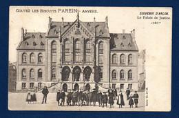 Arlon. Souvenir D'Arlon. Le Palais De Justice. Pub Biscuits Parein, Anvers. Ca 1900 - Arlon
