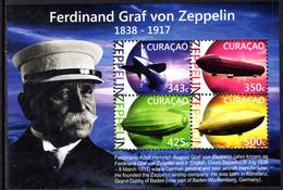 Curacao 2015 Zeppelin Souvenir Sheet Unmounted Mint. - Curacao, Netherlands Antilles, Aruba