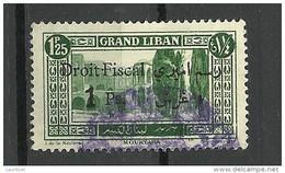 LIBANON Grand Liban Tax Droit Fiscal Overprint O - Used Stamps