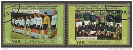 YEMEN 1970 Football Fussball Team England & Italy O - Famous Clubs
