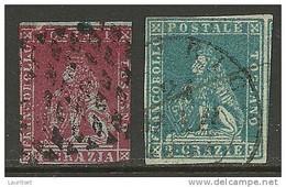 ITALIA ITALIEN ITALY TOSCANA Toskana Toscany 1851/55 Michel 4 - 5 O - Toscana