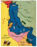(RR 22) Older P/c - Map - Greetings From The Arabian Gulf - Landkaarten