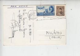 """EGITTO 1950 - Cartolina Per Italia - """"The Sphinx At Memphis - Storia Postale"""