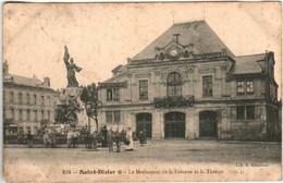 51dy 848 CPA - SAINT DIZIER - LE MONUMENT DE LA DEFENCE ET LE THEATRE - Saint Dizier