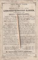 Zonhoven, Hasselt, 1886, Leonardus Blokken, Vanderstraeten - Devotion Images