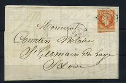 N 16 Bdf Sur Lettre Ob F - 1849-1876: Klassieke Periode
