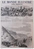 Kabylie - Ouverture De La Route Stratégique De Sik-el-Meddour Au Fort Napoléon - Page Original - 1857 - Historical Documents