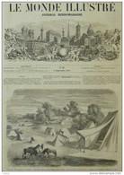 Kabylie - Quartier Général à Ait-el-Hassem (Beni-Yenni)  - Page Original - 1857 - Historical Documents