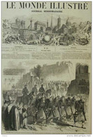 Kabylie - Rétour à Oran Du 2e Zouaves Revenant De Kabylie - Page Original - 1857 - Historical Documents