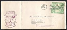 USA First Transatlantic Flight Zeppelin LZ 129 Hindenburg Lakehurst-Frankfurt 1936 - 1c. 1918-1940 Briefe U. Dokumente
