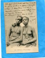 Sénégal -A O F- 2 Filles De Dakar Seins Nus -gros Plan  -édit  Fortier A Voagé En 1906 - Senegal