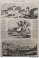 Expédition De Kabylie - Mosquée Ebtourée De Tombeaux Au Sommet Du Djebel-Belloua - Page Original 1857 - Historical Documents