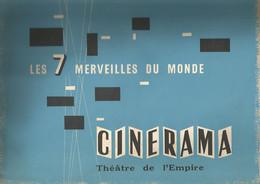 CINERAMA , THEATRE DE L EMPIRE : LES 7 MERVEILLES DU MONDE - Cinema Advertisement
