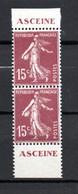 V1-10  Paire Verticale Du Carnet Laboratoires O. Rolland N° 189-C2 ** Pub Aceine  à 10 % De La Côte. - Standaardgebruik