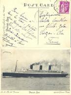LE HAVRE A NEW-YOK E TàD PAQUEBOT 30-3-37 Sur CP S.S. Ile De France => VIERZON CHER - Correo Marítimo