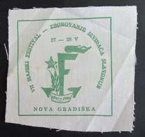 Ex YUGOSLAVIA, BOY SCOUT IZVIĐAČ 7. JAMBOREE NOVA GRADIŠKA, Year 1961. PATCH PFADFINDER SCOUTING - Pfadfinder-Bewegung