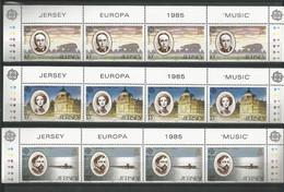 Jersey 1985 Europa Music Strip Y.T. 341/343 ** - Jersey