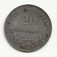 Italie - 20 Centésimi - 1863 M - TB/TTB - 1861-1878 : Victor Emmanuel II
