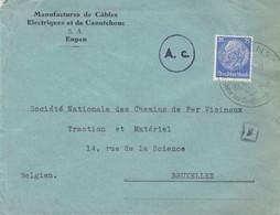 Allemagne - Empire - Lettre De 1940  - Oblit Eupen - Exp Vers Bruxelles - Cantons De L'Est - Avec Censure - Brieven En Documenten