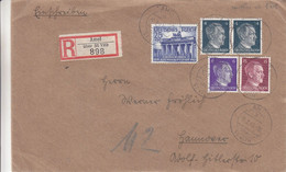 Allemagne - Empire - Lettre De 1942  - Oblit Amel - Exp Vers Hannover  - Cantons De L'Est - - Brieven En Documenten