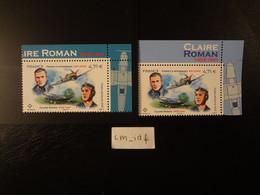 FRANCE 2021 PA 85 + PA 85A POSTE AERIENNE CLAIRE ROMAN - PIERRE CLOSTERMANN PAIRE ISSUE DE FEUILLE DE 10 TP ET DE 12 TP - 1960-.... Neufs
