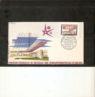 BELGIQUE . 1er JOUR . TIMBRE N° 1047 . 1958. EXPOSITION BRUXELLES . JOURNEE LUXEMBOURGEOISE . - 1951-60