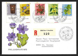 Switzerland Registered Cover 1975 Pro Juventute - Forest Plants - Stamp Day - Sonstige