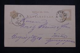 HONGRIE - Entier Postal De Bonyhád Pour Wien En 1884  - L 99425 - Postwaardestukken