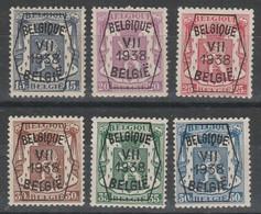 Preo 369/374 Serie No 7 * - Typografisch 1936-51 (Klein Staatswapen)