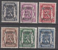 Preo  375/380 Serie No 8 * - Typografisch 1936-51 (Klein Staatswapen)