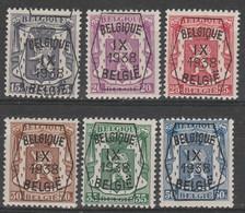 Preo  381/386 Serie No 9 * - Typografisch 1936-51 (Klein Staatswapen)