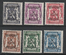 Preo  387/392 Serie No 10 * - Typografisch 1936-51 (Klein Staatswapen)
